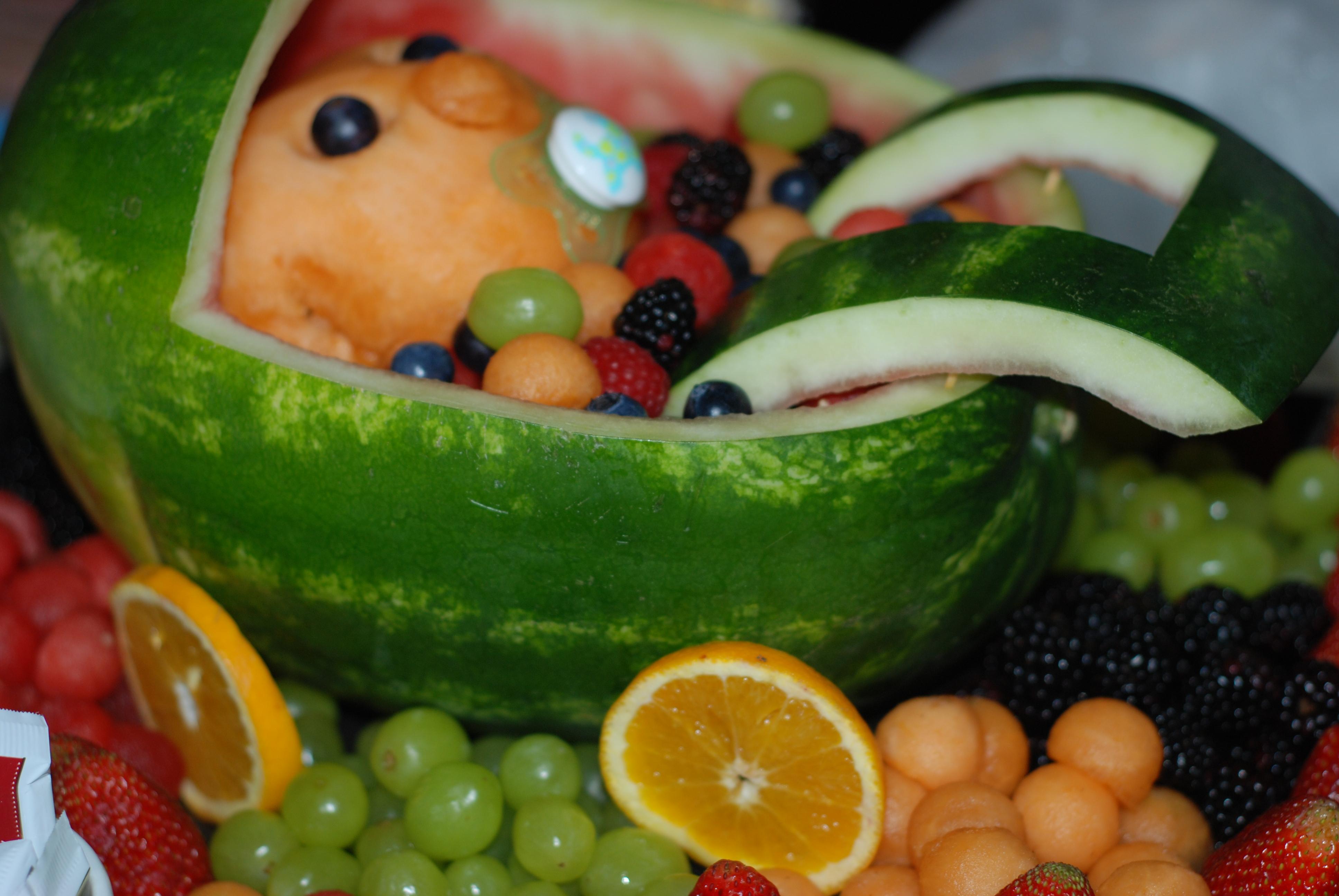 baby shower fruit platter baby stroller fruit tray