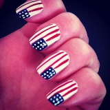 Patriotic 4th of July Nail Art