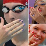 The Mani Olympics: Athletes Sport Olympic Inspired Nail Art